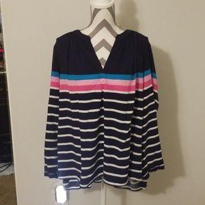 Crown & Ivy 2x striped blouse